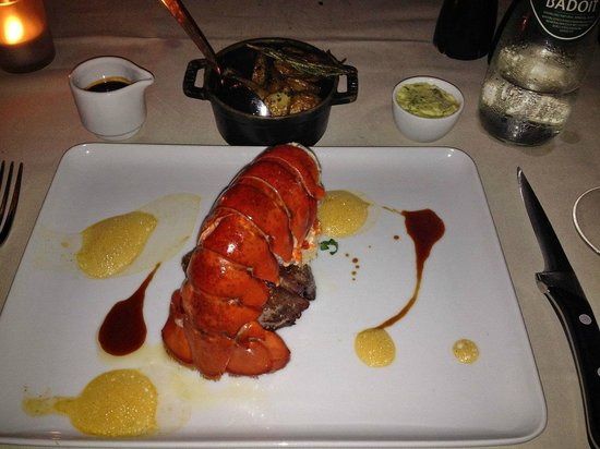 [m]eatery bar + restaurant : Surf and Turf - fillet mignon and Lobster