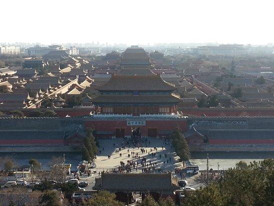 Jingshan Park (Jingshan Gongyuan): Pemandangan Forbidden City dari atas gunung