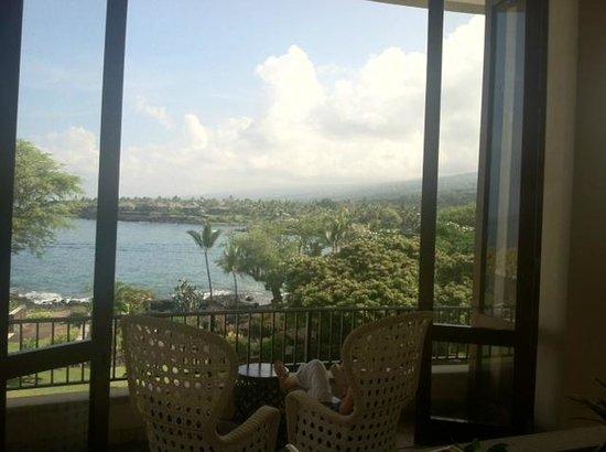 Sheraton Kona Resort & Spa at Keauhou Bay: Tremendous view from the Lobby!