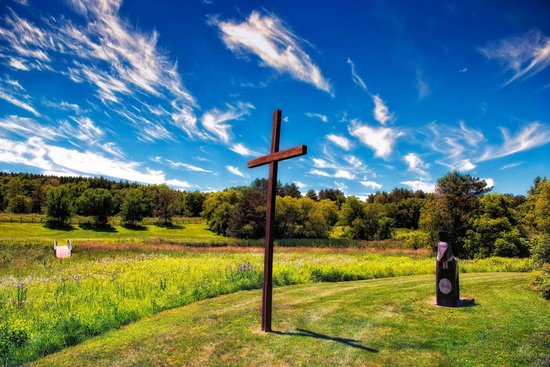 Scandia, MN : Outside the Oldest Lutheran Church in MN - photo: R. Guernsey