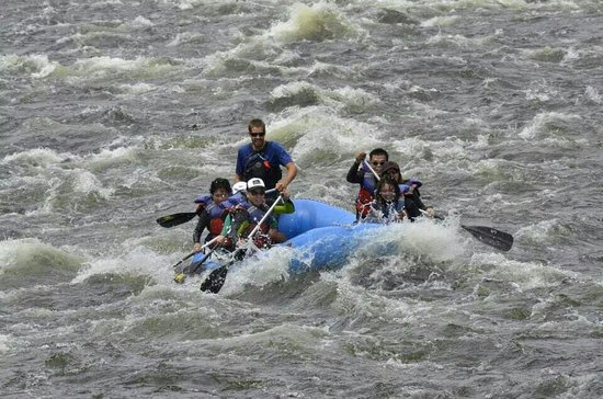 Wild Waters Outdoor Center: Braving the mighty Sacandaga with family and our awesome guide, T.