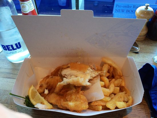 Stein's Fish & Chips : Lemon Sole & chips.