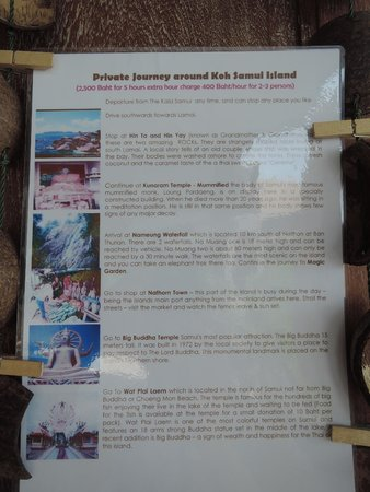 The Kala Samui: itinerary of our island tour with the hotel