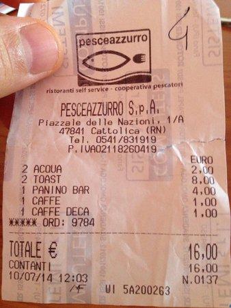 """Acquario di Cattolica : Il nostro pranzo """"plastificato"""" da NON consigliare!"""