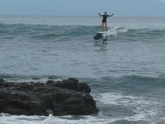 Grand Palladium Vallarta Resort & Spa: Surfing at the hotel break Punto Burros