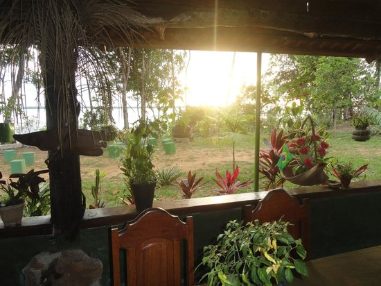 Amazon Brasil Jungle Tours - Day Tours: Sunset from the Anavilhanas Village dining room