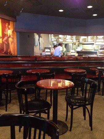 Bodo's Bagel Bakery - UVA Corner : Eating and ordering area.