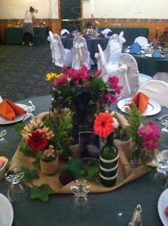 Northwoods Resort: One of the table centerpieces
