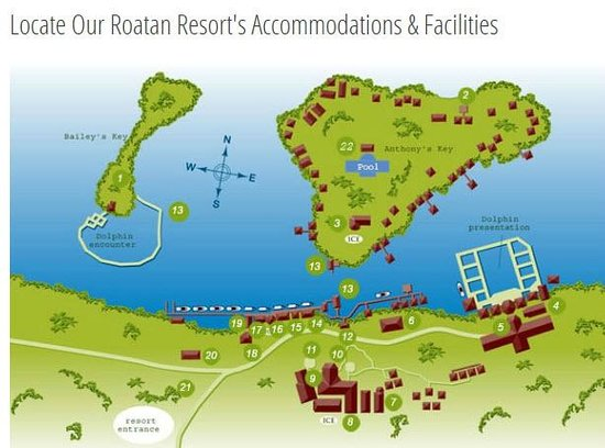 Anthony's Key Resort : Resort Map