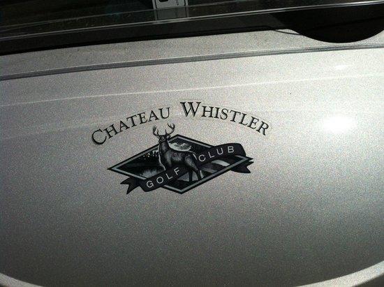 Fairmont Chateau Whistler Golf Club: Our cart's logo