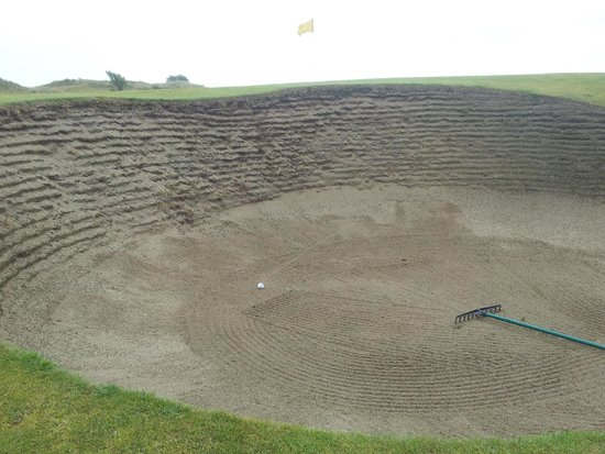 Portmarnock Golf Club: now that's what I call a bunker