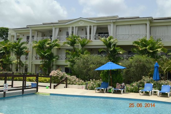 Beach View: View of our building from pool area