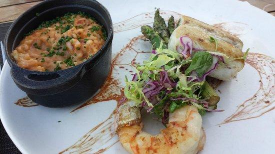 El Farallon : Amberjack Fish w/ Risotto and Asparagus