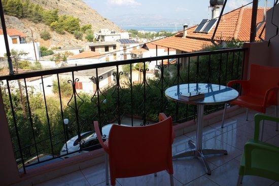 Vasilis Hotel: der Blick vom Balkon