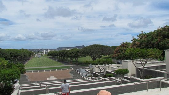 National Memorial Cemetery of the Pacific : View of cemetery