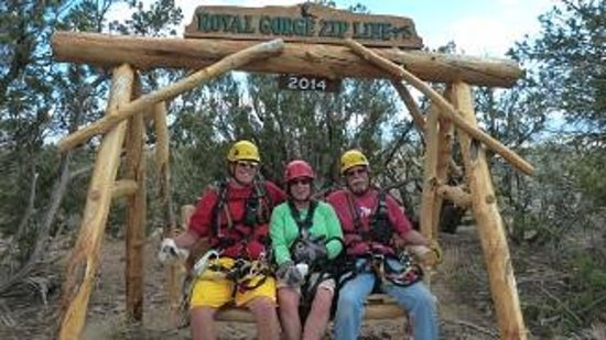 Royal Gorge Zip Line Tours: photo op - silliness follows
