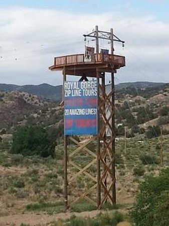 Royal Gorge Zip Line Tours: There is only one way down!