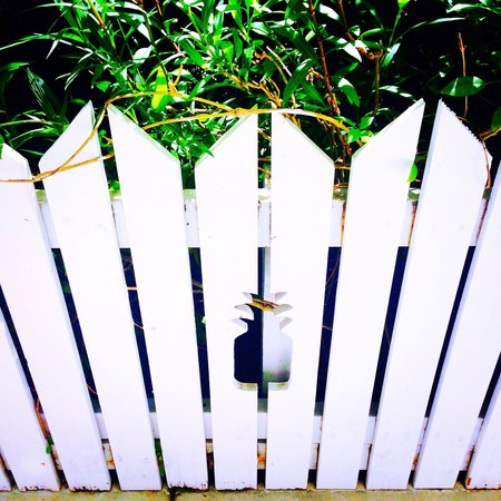 Parrot Key Hotel and Resort: Beautify White Picket Fences with Pineapple Cut-Outs