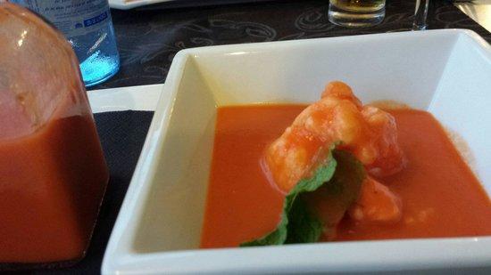 Restaurante de Fabula Mediterranea : Gazpacho met citroenijs