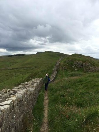 Walltown Crags - Hadrian's Wall: Peter along the Wall