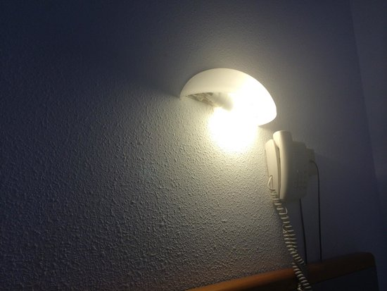 Complejo Calas de Mallorca: A light that they have put in upside down