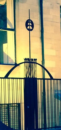 Iron Wrought Gate in front of the Glasgow School of Art