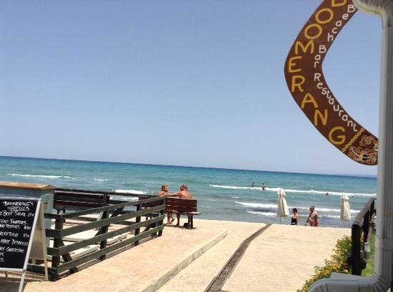 Boomerang Beach Bar : view from bar