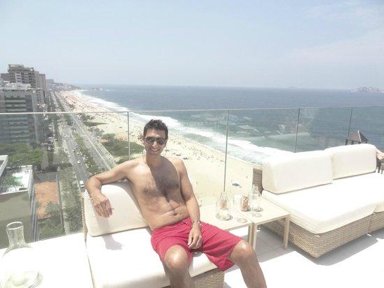 Praia Ipanema Hotel: terraza del hotel,hermosa picina,exelente lugar