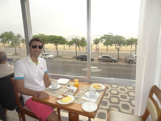 Praia Ipanema Hotel: vista desde el desayunador