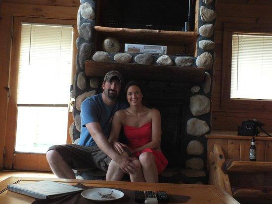 Elk Springs Resort: Fireplace!