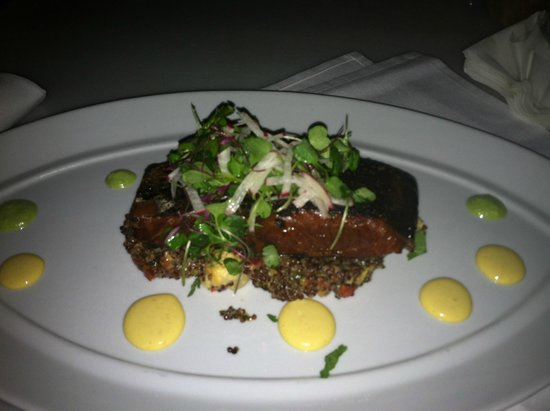 Ola at the Sanctuary : the salmon dish