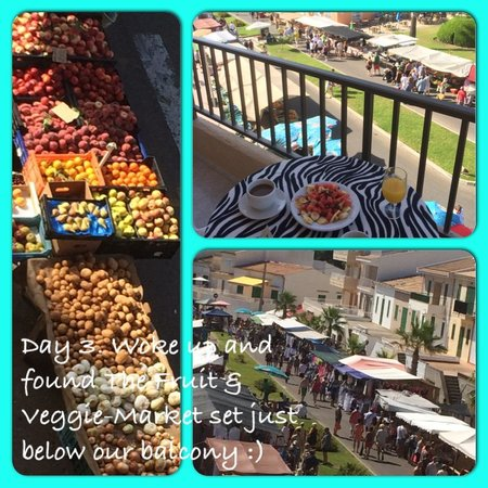 Mar y Paz Apartments: View from our balcony, the Friday Market :)