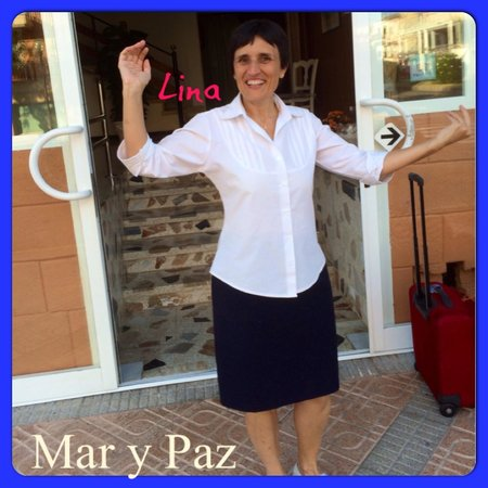 """Mar y Paz Apartments: The wonderful receptionist """"LIna"""" at """"Hotel Mar y Paz"""" who always greeted us with a smile and go"""