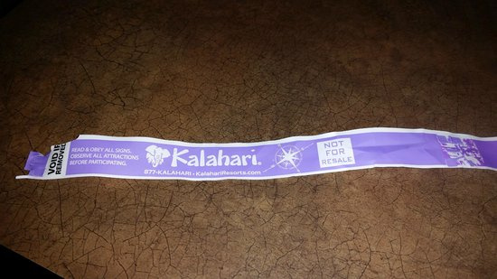Kalahari Resorts & Conventions: Wristband
