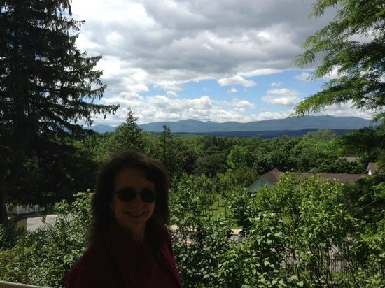 Thomas Cole National Historic Site: My wife Alice enjoying Thomas Cole's view of the Catskill Mts.