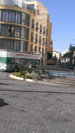 Hilton Malta: One of the tour bus companies