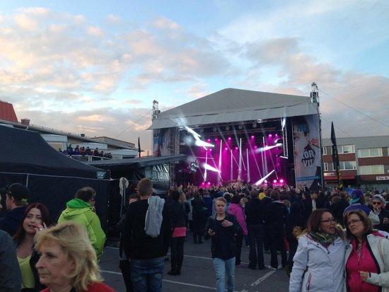 Scandic Ferrum: Kiruna Festival from the Hotel area