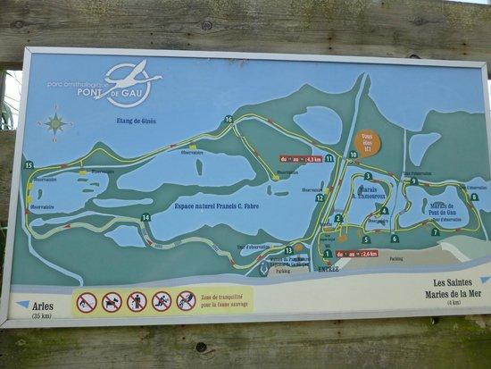 Le Parc Ornithologique de Pont de Gau : Deux circuits possibles et combinables