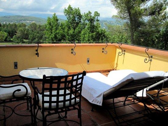 Terre Blanche Hotel and Spa : Terrasse de la suite