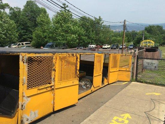 Lackawanna Coal Mine Tour: mine car you take into the mine