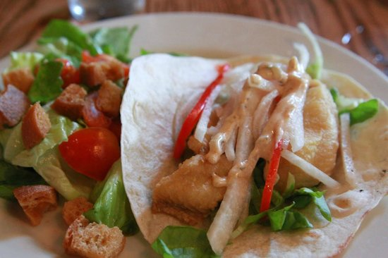 Capital City Colonials: Fresh salad and catfish tacos - Factor's Row