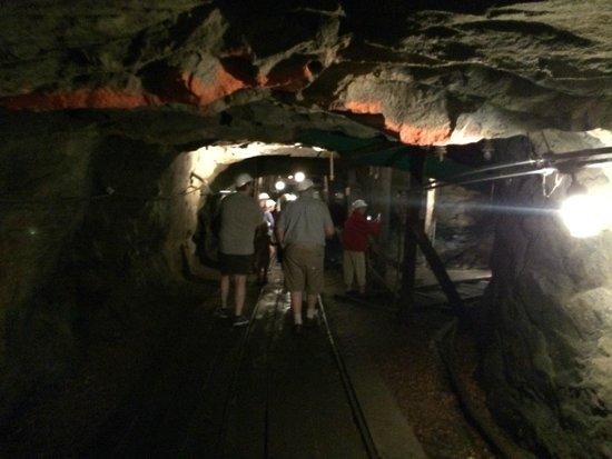Lackawanna Coal Mine Tour: on the tour in the mine