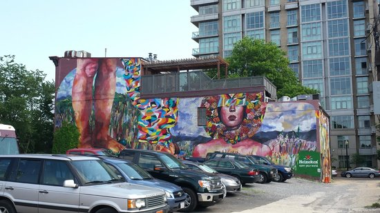 Capital View: Back of the building mural