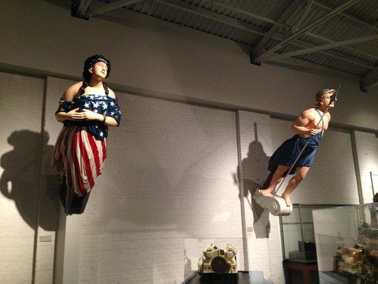 Newport News, VA: historic ship's figureheads