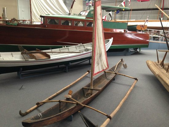 Newport News, VA: full scale boat, double outrigger canoe, Philippines, early 20th century