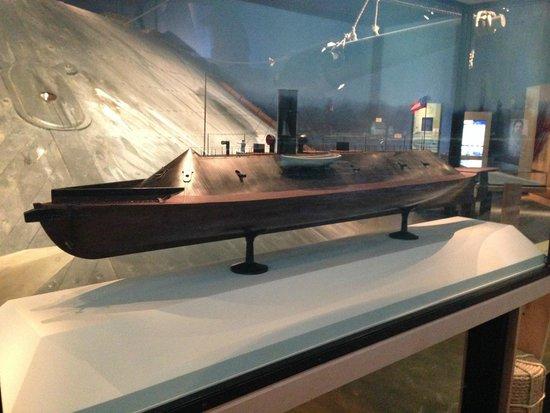 Νιούπορτ Νιουζ, Βιρτζίνια: scale model, U.S. Civil War, CSS Virginia