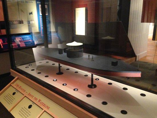 Νιούπορτ Νιουζ, Βιρτζίνια: scale model, U.S. Civil War, USS Monitor