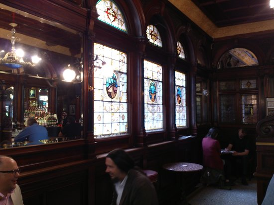 Stag's Head: stained glass windows