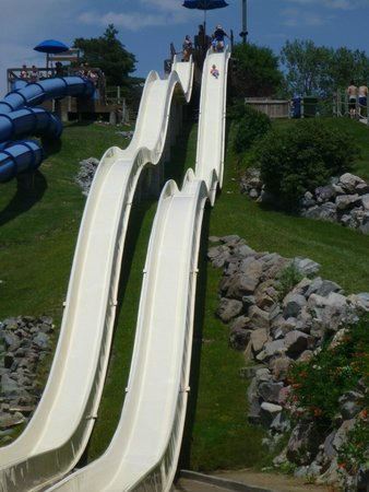 Water World: Water slide is 5-6 story walk up and fun!