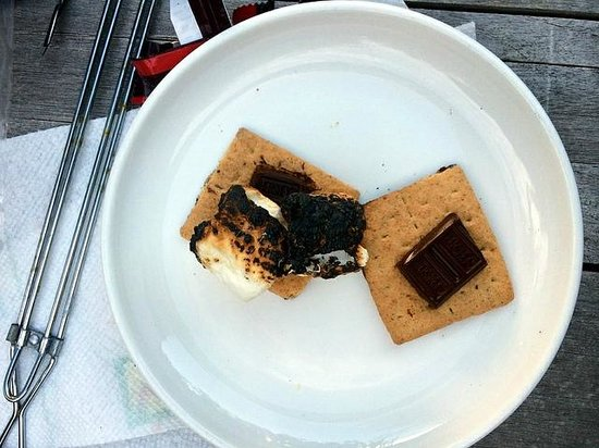Coast Cabins: S'mores with ingredients provided!